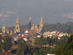 kathedrale von santiago aus der ferne